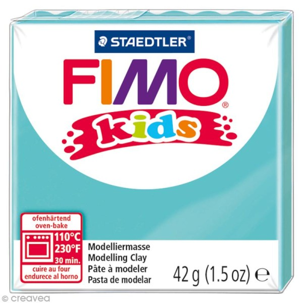Pâte Fimo Kids Bleu turquoise 39 - 42 gr - Photo n°1