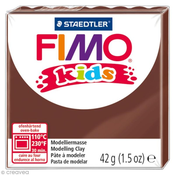 Pâte Fimo Kids Marron 7 - 42 gr - Photo n°1