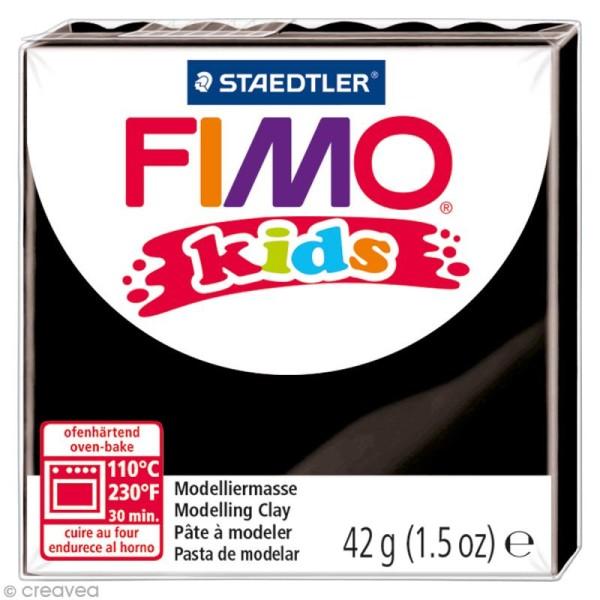 Pâte Fimo Kids Noir 9 - 42 gr - Photo n°1