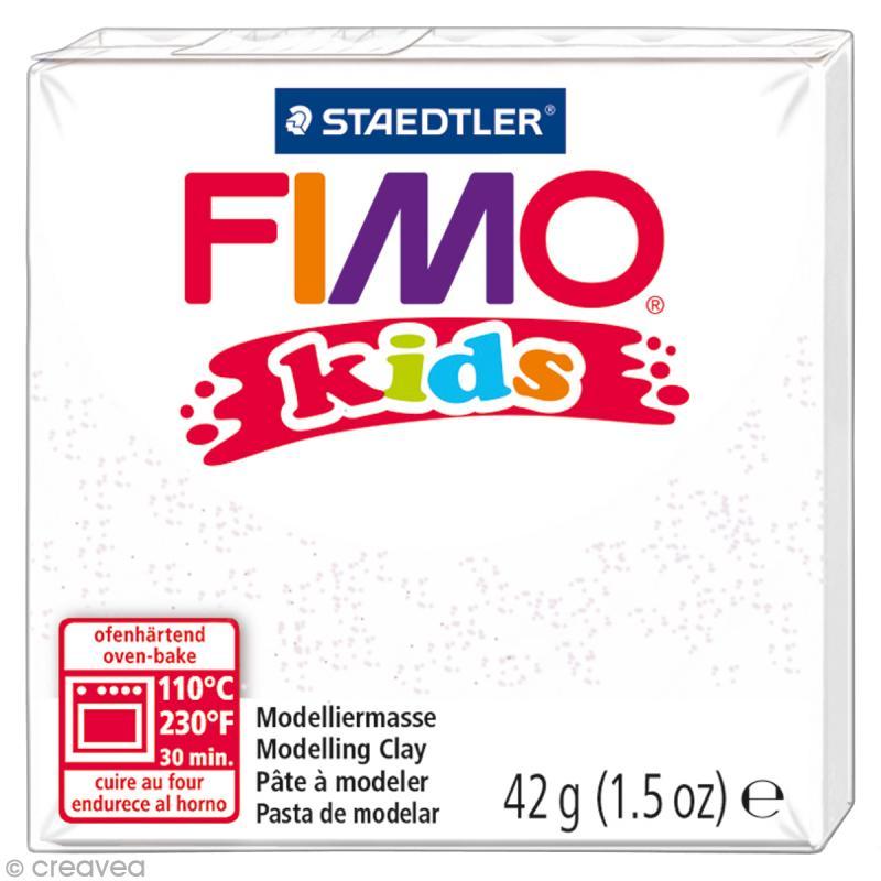 Fimo Kids Blanc pailleté 052 - 42 gr - Photo n°1