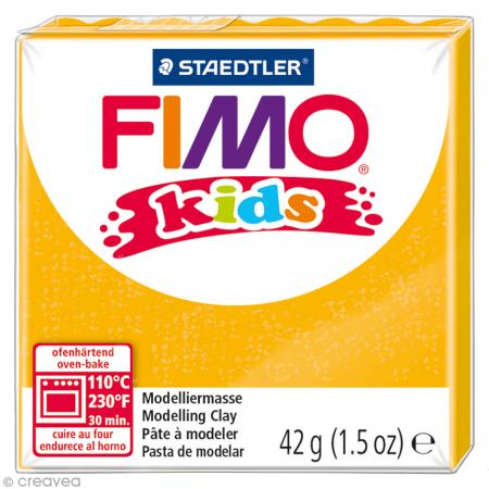 Fimo Kids Or pailleté 112 - 42 gr - Photo n°1