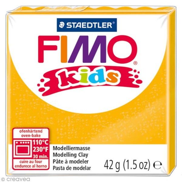 Pâte Fimo Kids Or pailleté 112 - 42 gr - Photo n°1