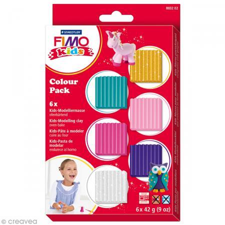 Kit Fimo Kids fille - Assortiment de 6 pains - Photo n°1