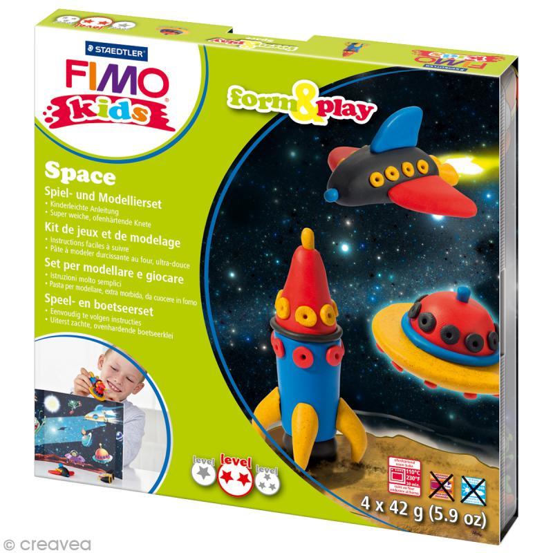 Kit Fimo Kids garçon - Espace - niveau moyen - Photo n°1