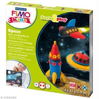 Kit pâte Fimo Kids garçon - Espace - niveau moyen