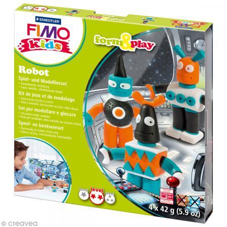 Kit Fimo Kids garçon - Robots - niveau moyen - Photo n°1
