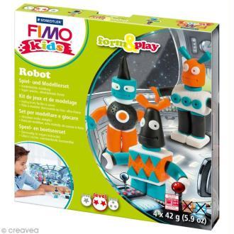 Kit Fimo Kids garçon - Robots - niveau moyen
