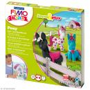 Kit Fimo Kids fille - Poneys - niveau moyen - Photo n°1