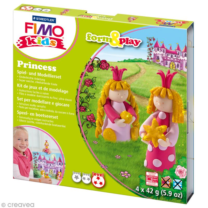 Kit Fimo Kids fille - Princesses - niveau difficile - Photo n°1