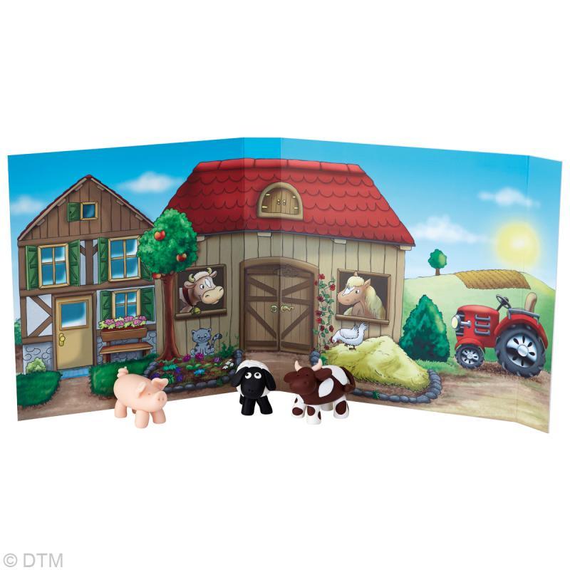 Kit Fimo Kids - Animaux de la ferme - niveau facile - Photo n°2