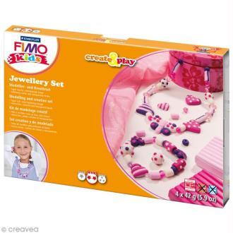 Kit Fimo Kids - Bijoux coeur - niveau moyen
