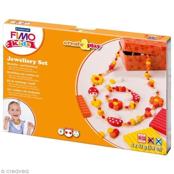 Kit pâte Fimo Kids - Bijoux fleur - niveau moyen - Photo n°1