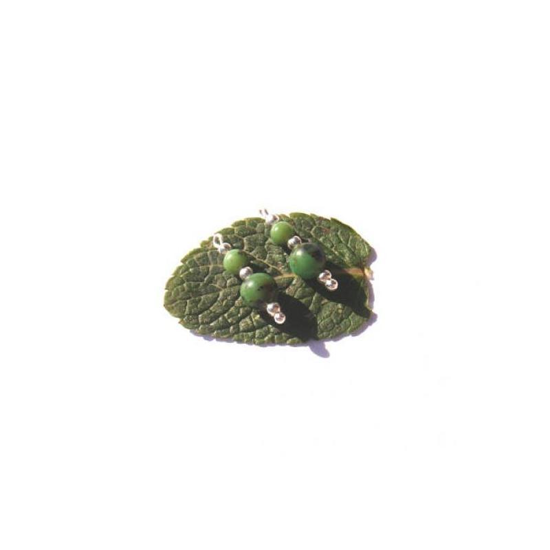 Jade Africain : 2 MINI pendentifs 2 CM de hauteur x 6 MM de diamètre - Photo n°1