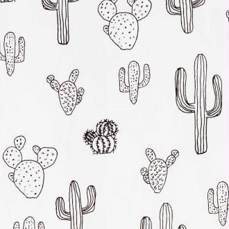 Tissu popeline coton cactus - Bicolore- Par 50cm