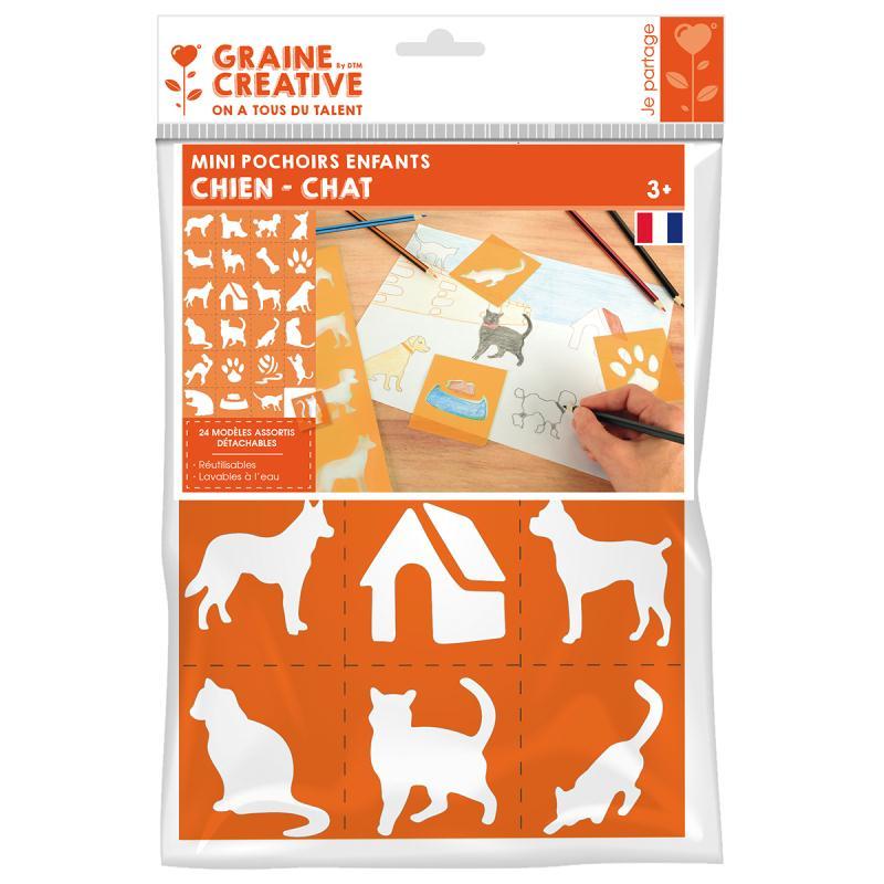 pochoirs en plastique 7 cm chien et chat 24 pochoirs. Black Bedroom Furniture Sets. Home Design Ideas