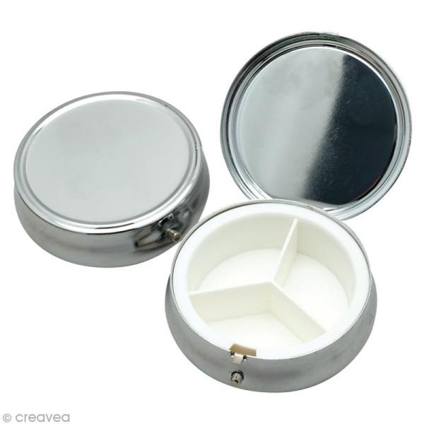 Boîte ronde en métal 4,5 cm à décorer - Photo n°1