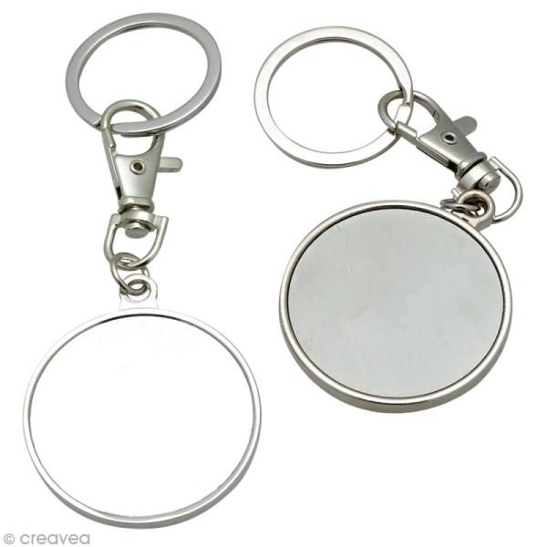 Porte-clé en métal 4 cm à décorer - Photo n°1