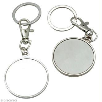 Porte-clé en métal 4 cm à décorer