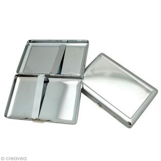Etui porte-cartes en métal 10,2 x 6,5 cm à décorer