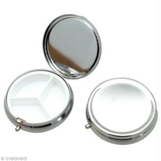 Boîte ronde en métal 5,8 cm à décorer