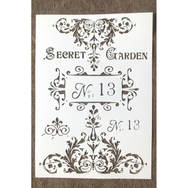 POCHOIR PLASTIQUE Format A4 (21*29.7cm) motif vintage