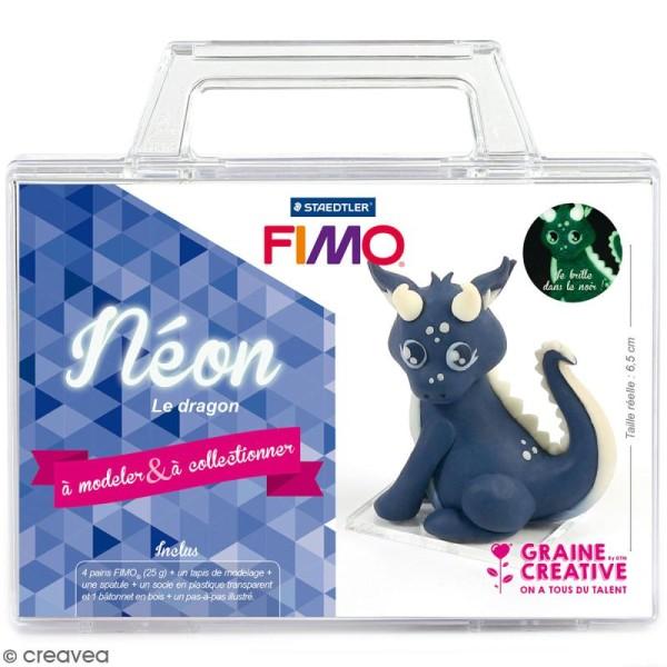 Kit figurine Fimo - Néon le dragon - Photo n°1