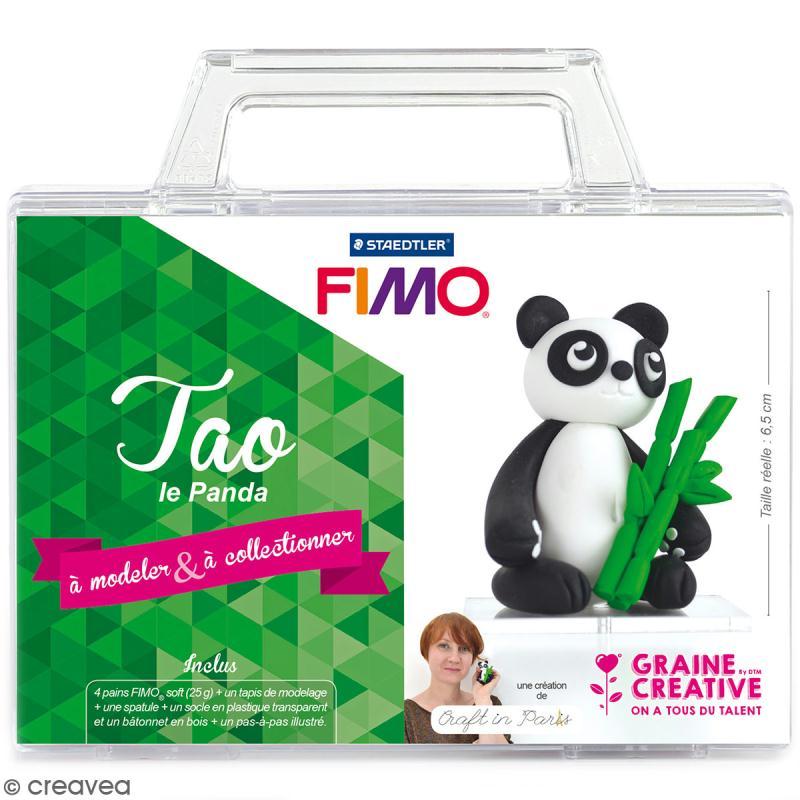 Kit figurine Fimo - Tao le panda - Photo n°1