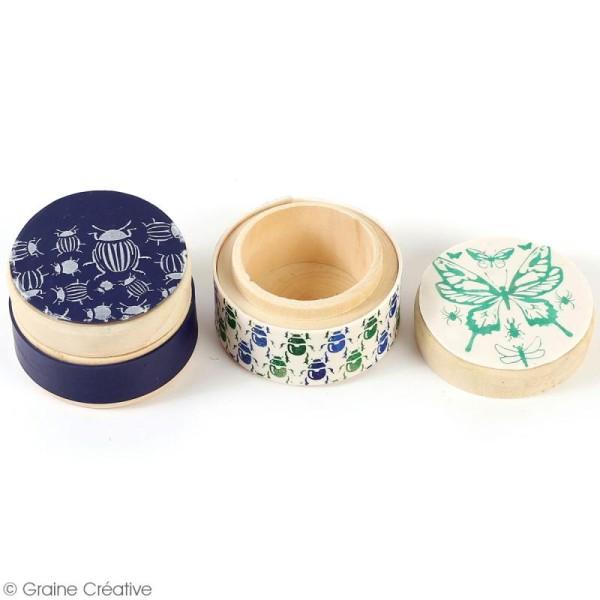 Pochoir pour impression de motifs sur pâte polymère - Insectes - 11,4 x 15,3 cm - Photo n°2