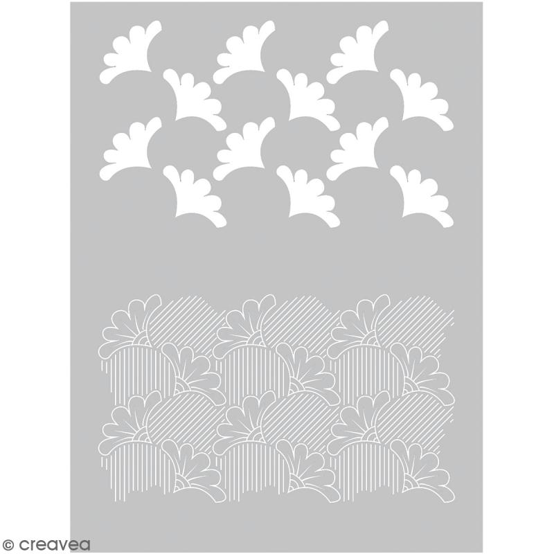 Pochoir pour impression de motifs sur pâte polymère - Wax - 11,4 x 15,3 cm - Photo n°1