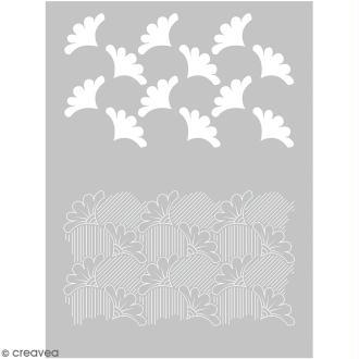 Pochoir pour impression de motifs sur pâte polymère - Wax - 11,4 x 15,3 cm