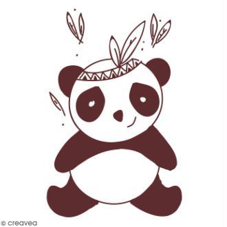 Tampon en bois Graine Créative - Panda - 6 x 8,5 cm