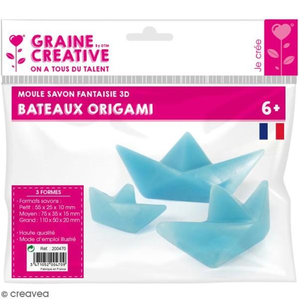 Moule à savons fantaisie - Bâteau origami - 3 pcs - Photo n°1