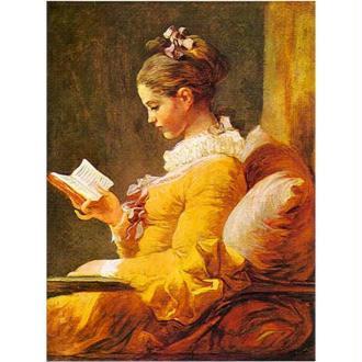 Image 3D Femme - La liseuse de Fragonard 18 x 24 cm