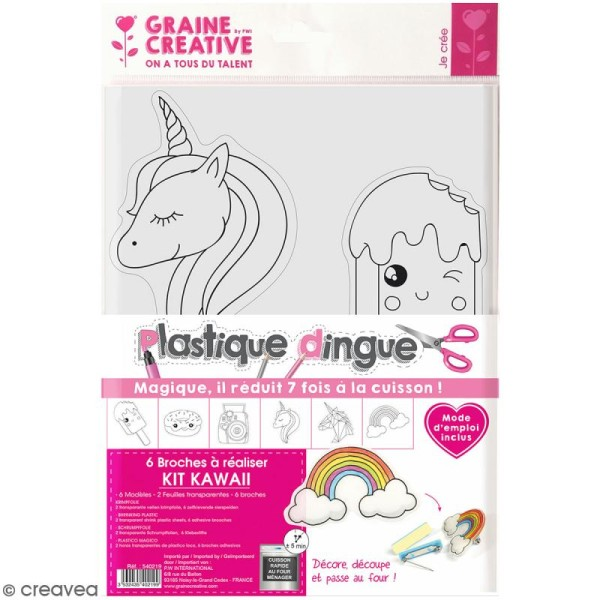 Kit plastique dingue - Broches Kawaii - Photo n°1