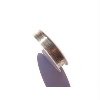 Bobine 15 mètres fil cuivre sans nickel argenté 0,4 mm de diamètre