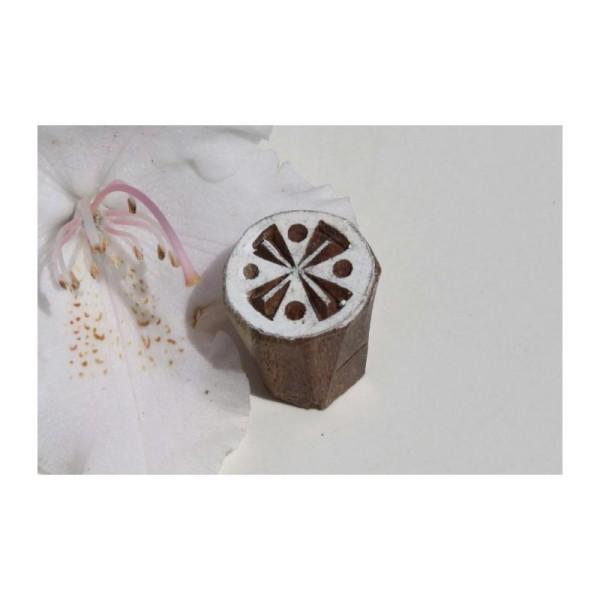 Tampon en bois sculpté à la main, tampon batik, tampon encreur - Photo n°1