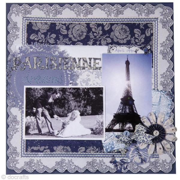 Noeud en ruban Papermania - Parisienne blue - 12 pièces - Photo n°4