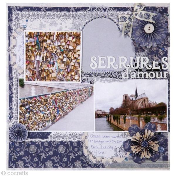 Noeud en ruban Papermania - Parisienne blue - 12 pièces - Photo n°5