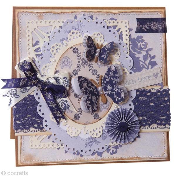Noeud en ruban Papermania - Parisienne blue - 12 pièces - Photo n°6