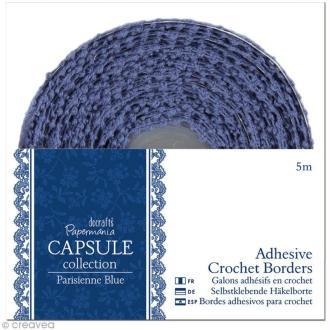 Lace tape dentelle Parisienne blue 15 mm x 5 mètres