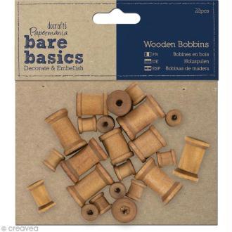Bobine en bois - Bare basics - 22 pièces