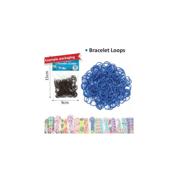 Bracelet loops x300 + clips x12 bleu - Photo n°1