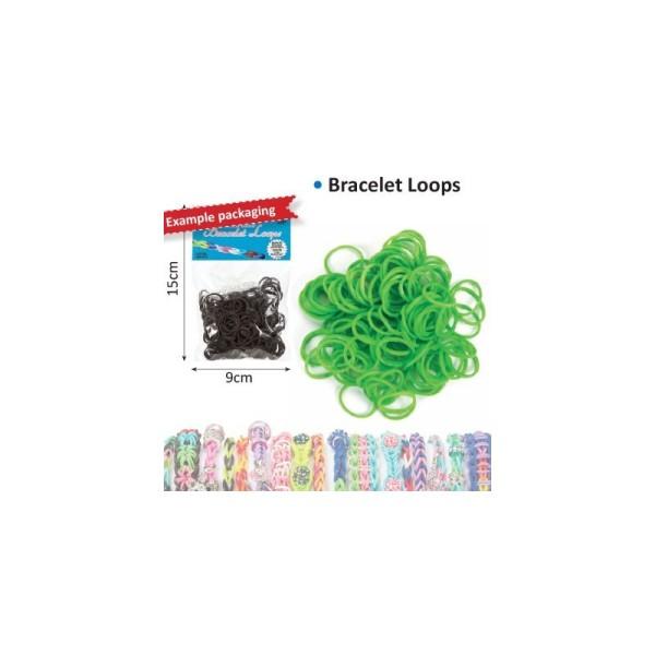 Bracelet loops x300 + clips x12 vert - Photo n°1