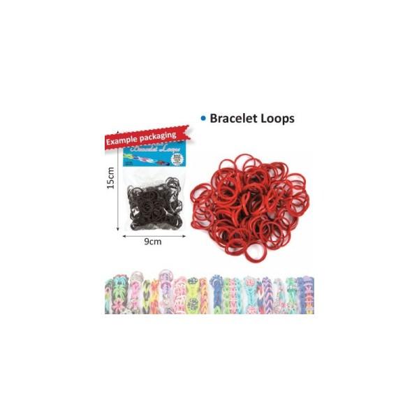 Bracelet loops x300 + clips x12 marron - Photo n°1
