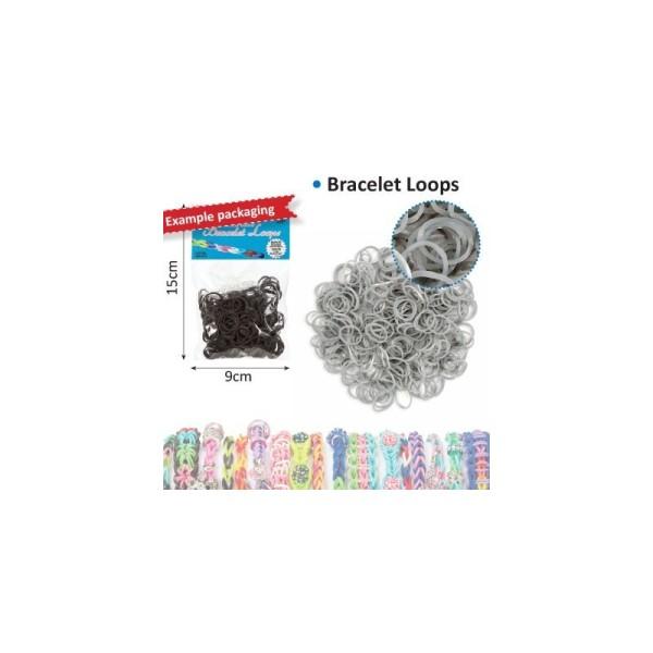 Bracelet loops x300 + clips x12 argent - Photo n°1