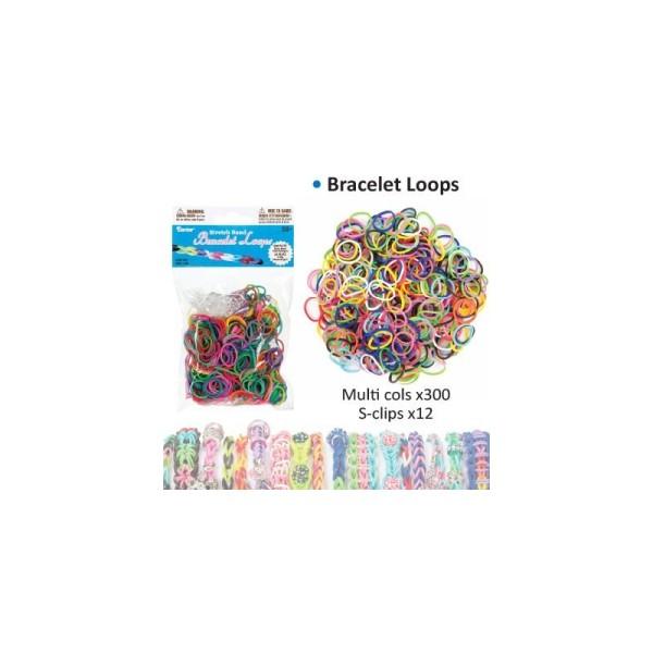 Bracelet loops x300 + clips x12 assortis - Photo n°1