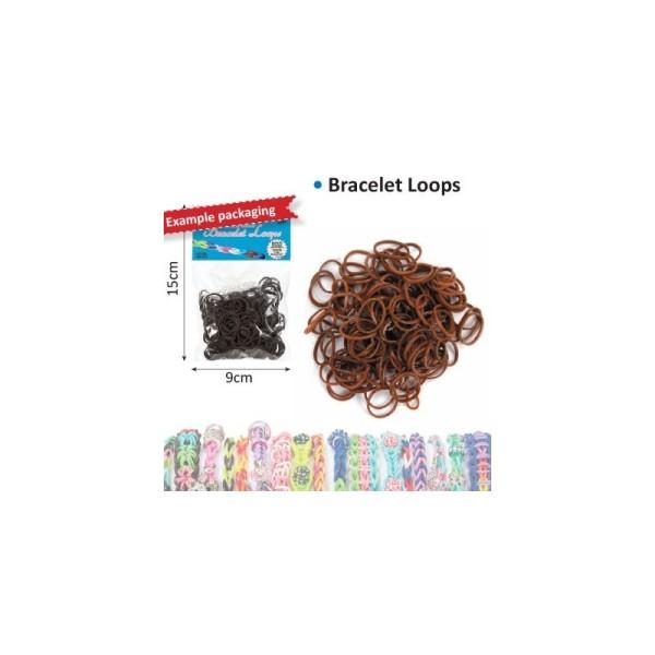 Bracelet loops x300 + clips x12 marron f - Photo n°1