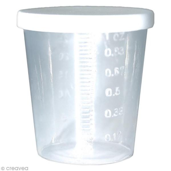 Lot de 12 pots en plastique + 1 pipette - Photo n°2