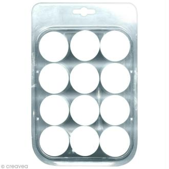 Lot de 12 pots en plastique + 1 pipette