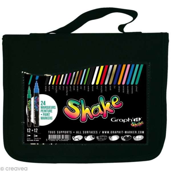 Assortiment Graph'it shake - Trousse de 24 marqueurs peinture - Photo n°1